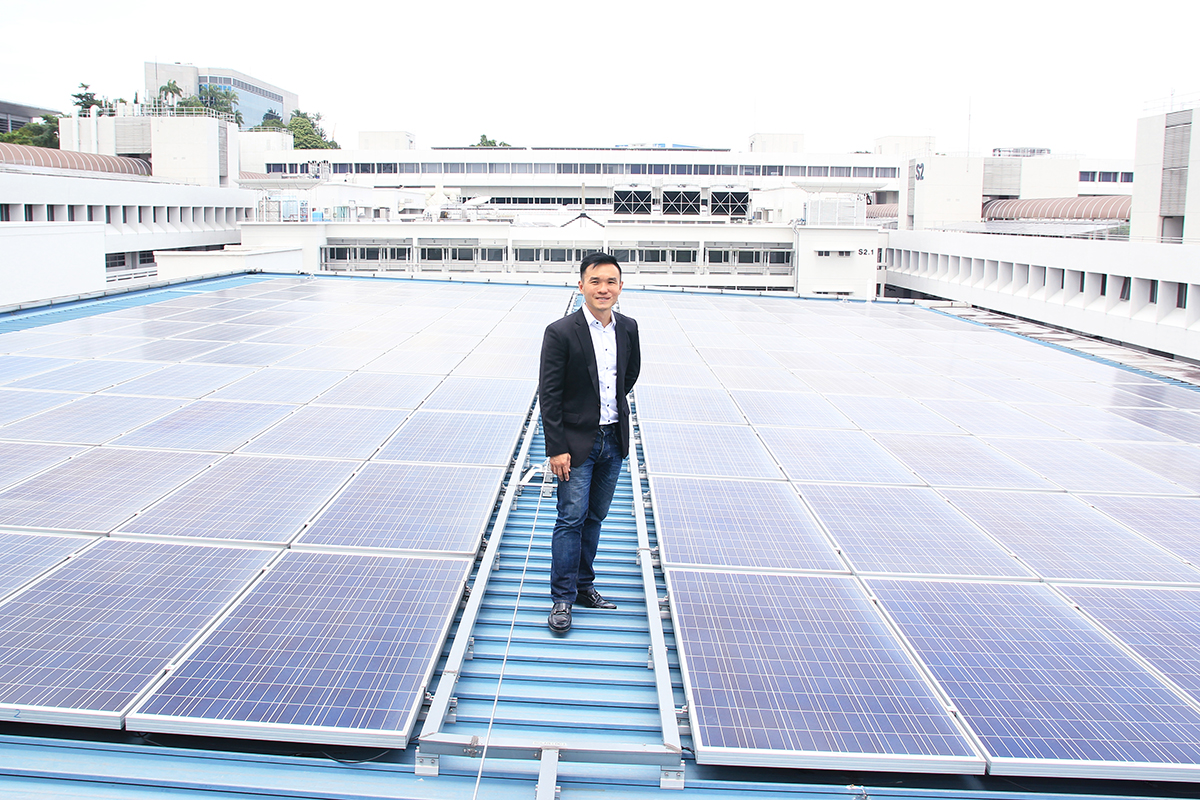 After leaving the media sector, Rob Khoo set up his own business SolarPVExchange in 2014. The company serves as a platform to link up solar panel installation companies with potential customers. Photo: LU YAWEN