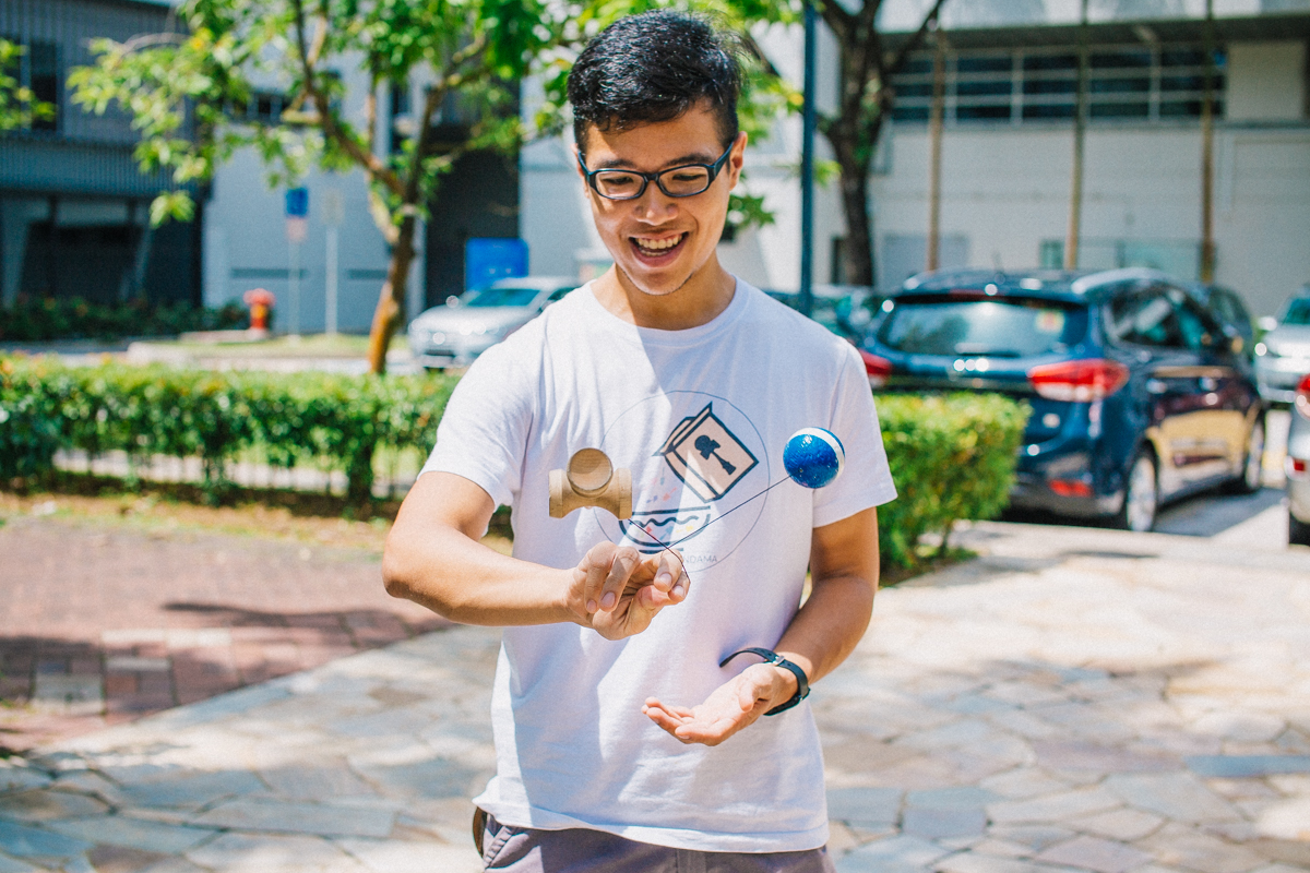 Kendama is more than just a hobby for Lee, founder of homegrown brand Cereal Kendama. PHOTO: JERLIN HUANG