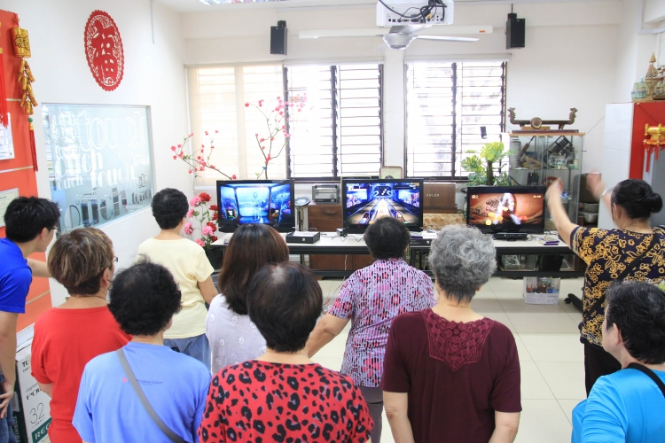 "TOUCH Seniors Activity Centre is one of participating venues for ""Exergames."" PHOTO: LU YAWEN"