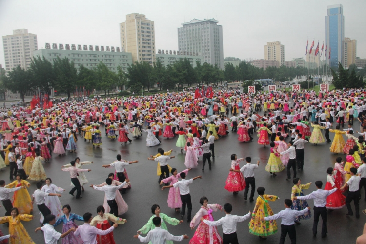 In July this year, Lock was in Pyongyang, North Korea, during the country's Victory Day - the anniversary of the signing of the Korean War Armistice. University students perform mass dances at the Kim Il-Sung Square. PHOTO COURTESY OF CLARA LOCK