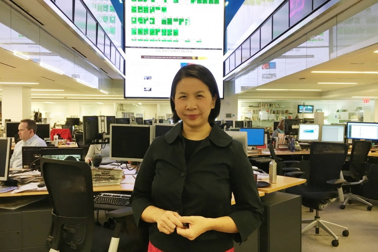 Ng has been working in The Wall Street Journal's New York City bureau since 2006, covering finance. PHOTO COURTESY OF SERENA NG
